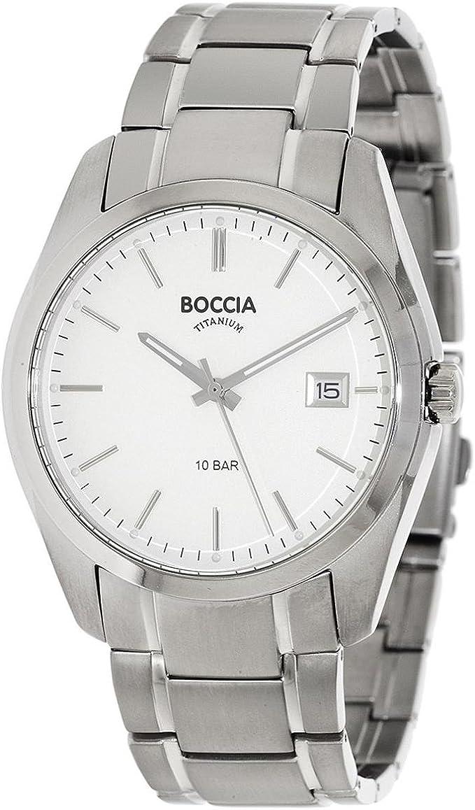 Boccia Reloj Digital para Hombre de Cuarzo con Correa en Titanio 3608-03