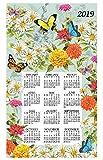 2019 Butterfly Garden Calendar Towel & Dowel - Kay Dee