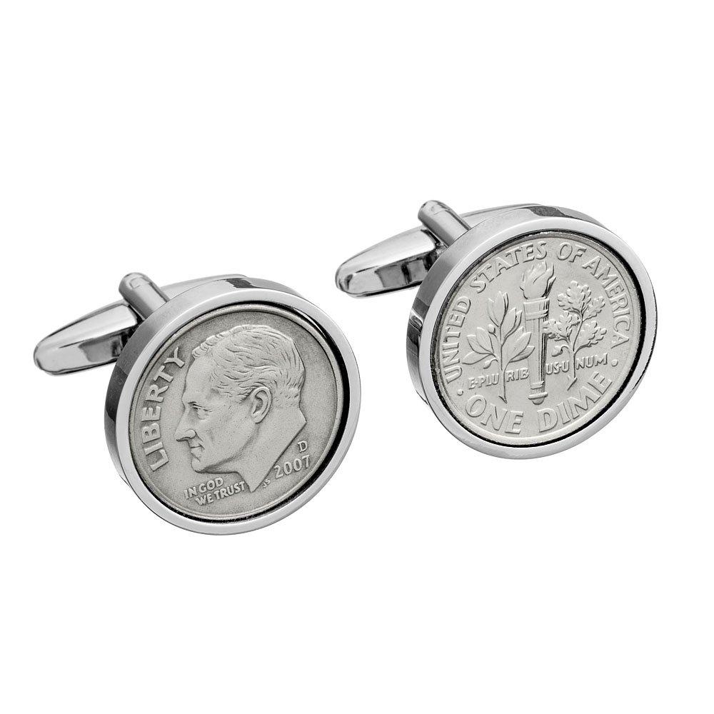 10th Wedding Anniversary - Tin Gift - Mint 2007 Coin Cufflinks