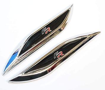110x20mm Negro Fr (Rojo Then Negro) Lateral Insignias Molduras Seat Ibiza León Mii Altea Delante Win: Amazon.es: Coche y moto
