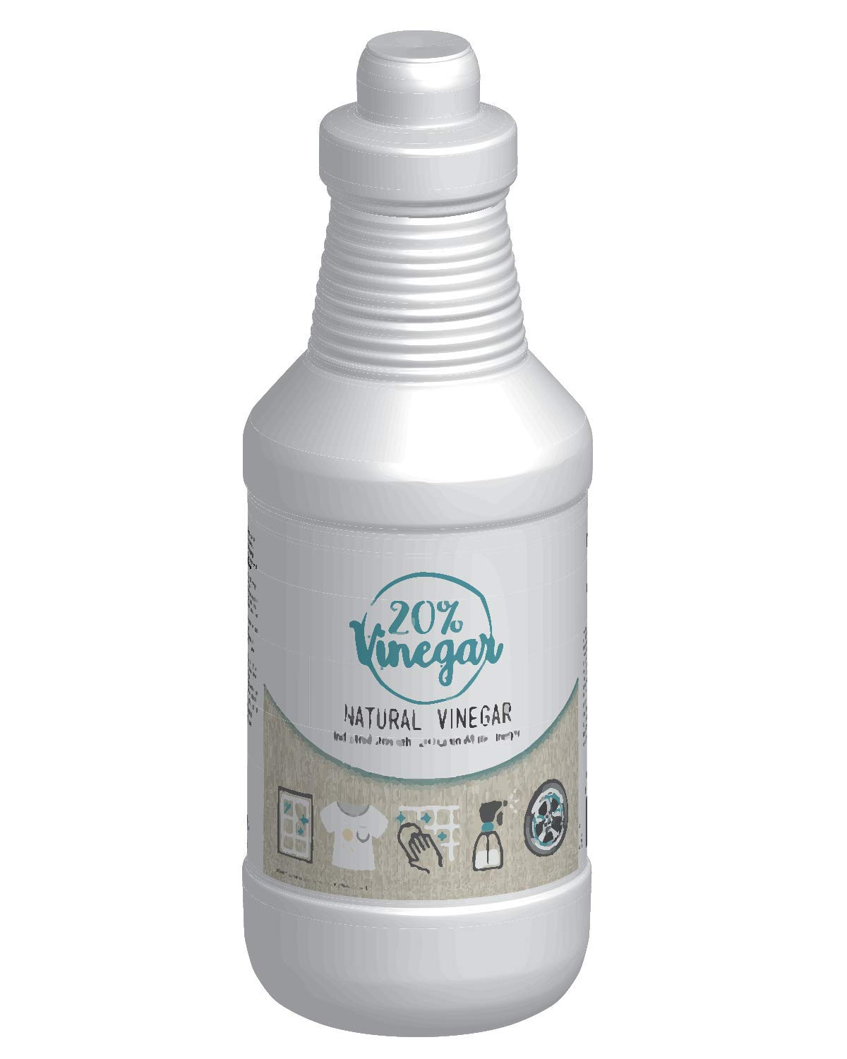 20% White Vinegar - 200 Grain Vinegar Concentrate - 1 Quart of Natural and Safe Multi-Use Concentrated Industrial Vinegar Bluewater Chemgroup