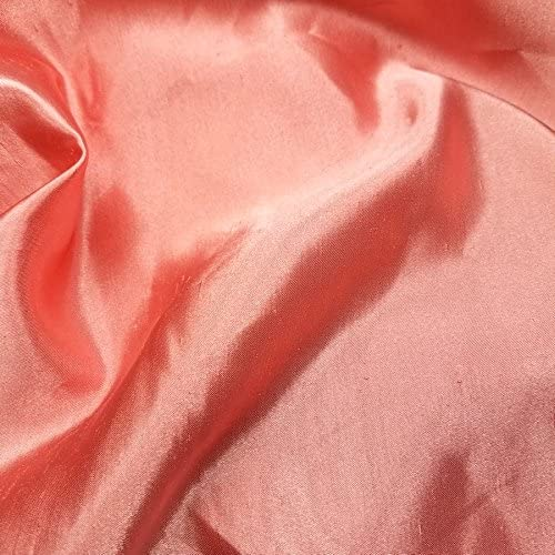Pink  Shantung Faux Silk Polyester Drapery Fabric  by the yard 40 colors