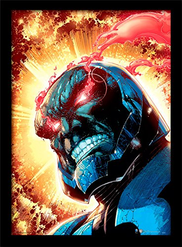 iPosters DC Comics Darkseid Framed 30 x 40 Official Print - Overall Size: 36 x 46 cm (14 x 18 inches) Print Size: 30 x 40 cm]()