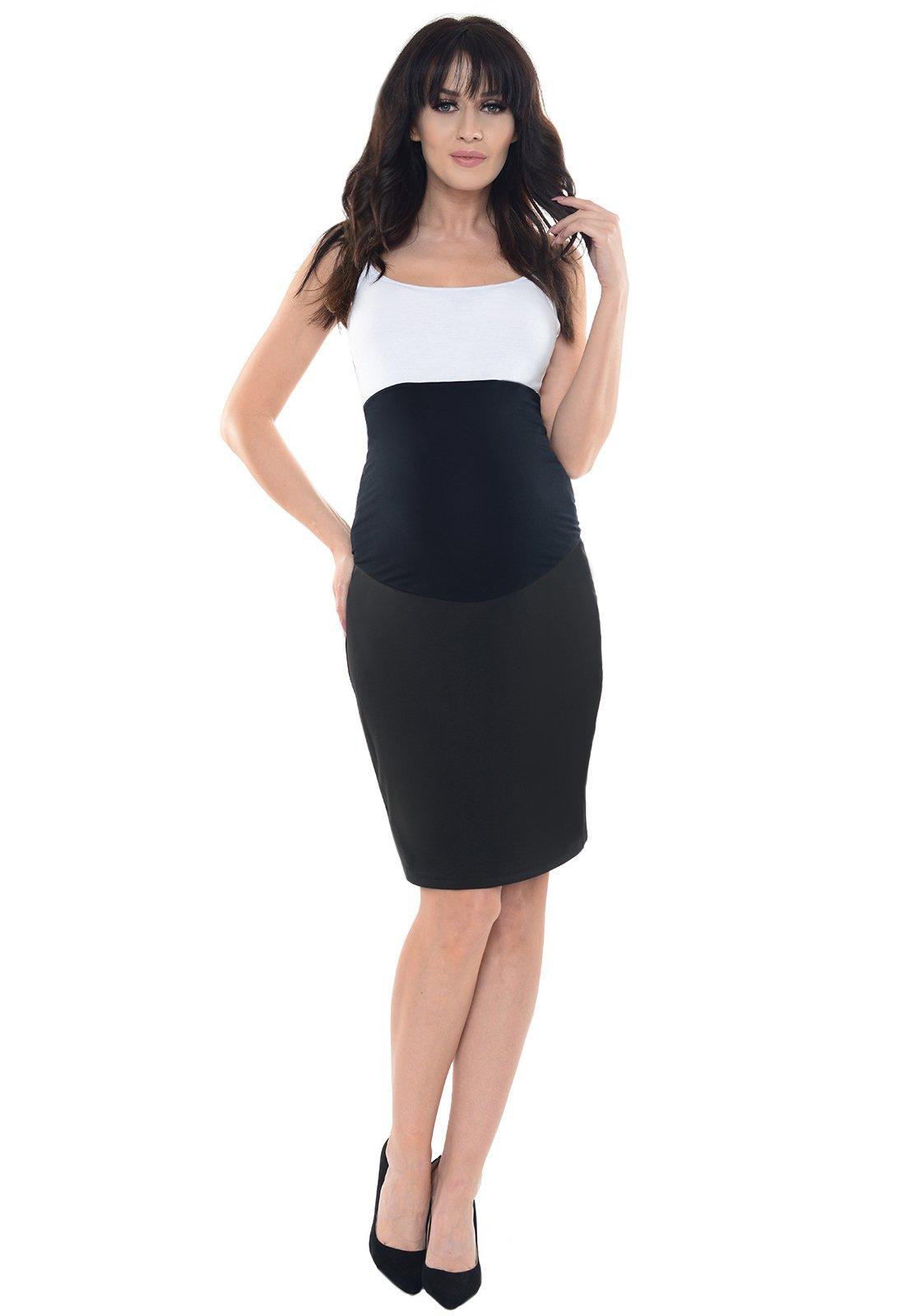 Purpless Maternity Pregnancy Formal Pencil Skirt 1504 (8, Black)