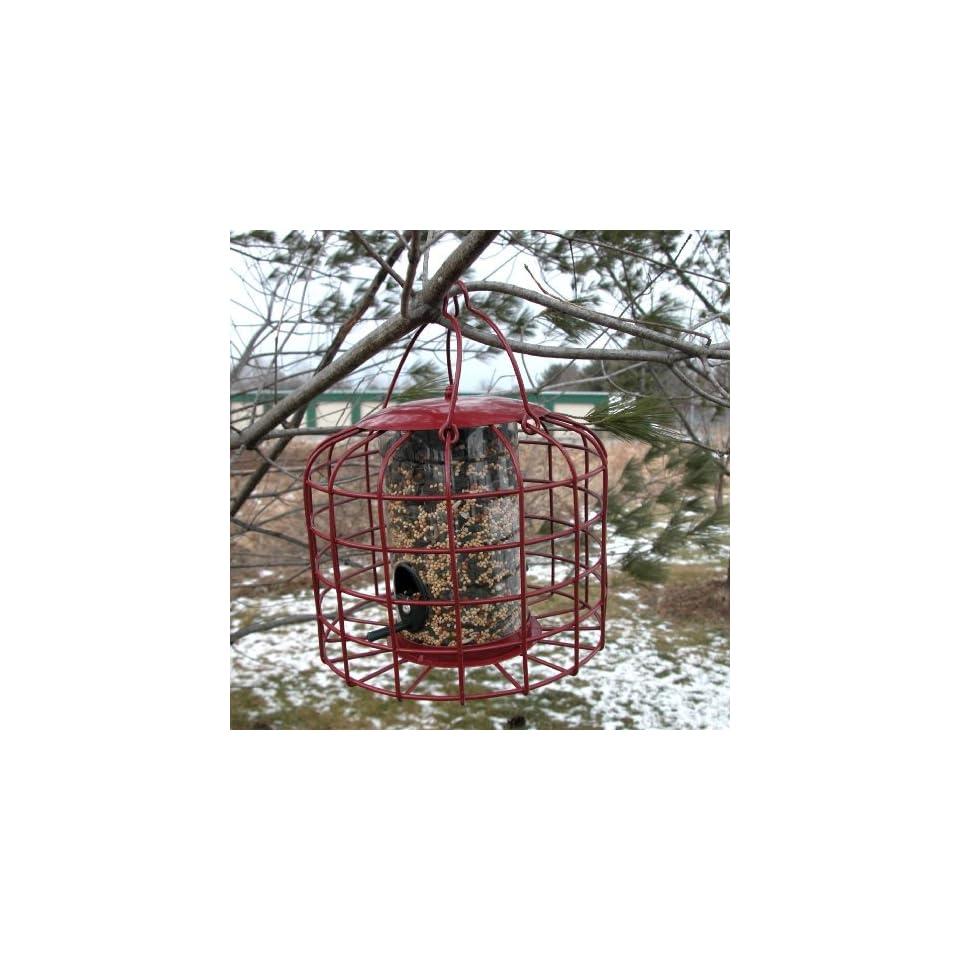 SQUIRREL RESISTANT BIRD FEEDER   MADE OF IRON WITH PLASTIC FOOD CHAMBER  Wild Bird Feeders  Patio, Lawn & Garden