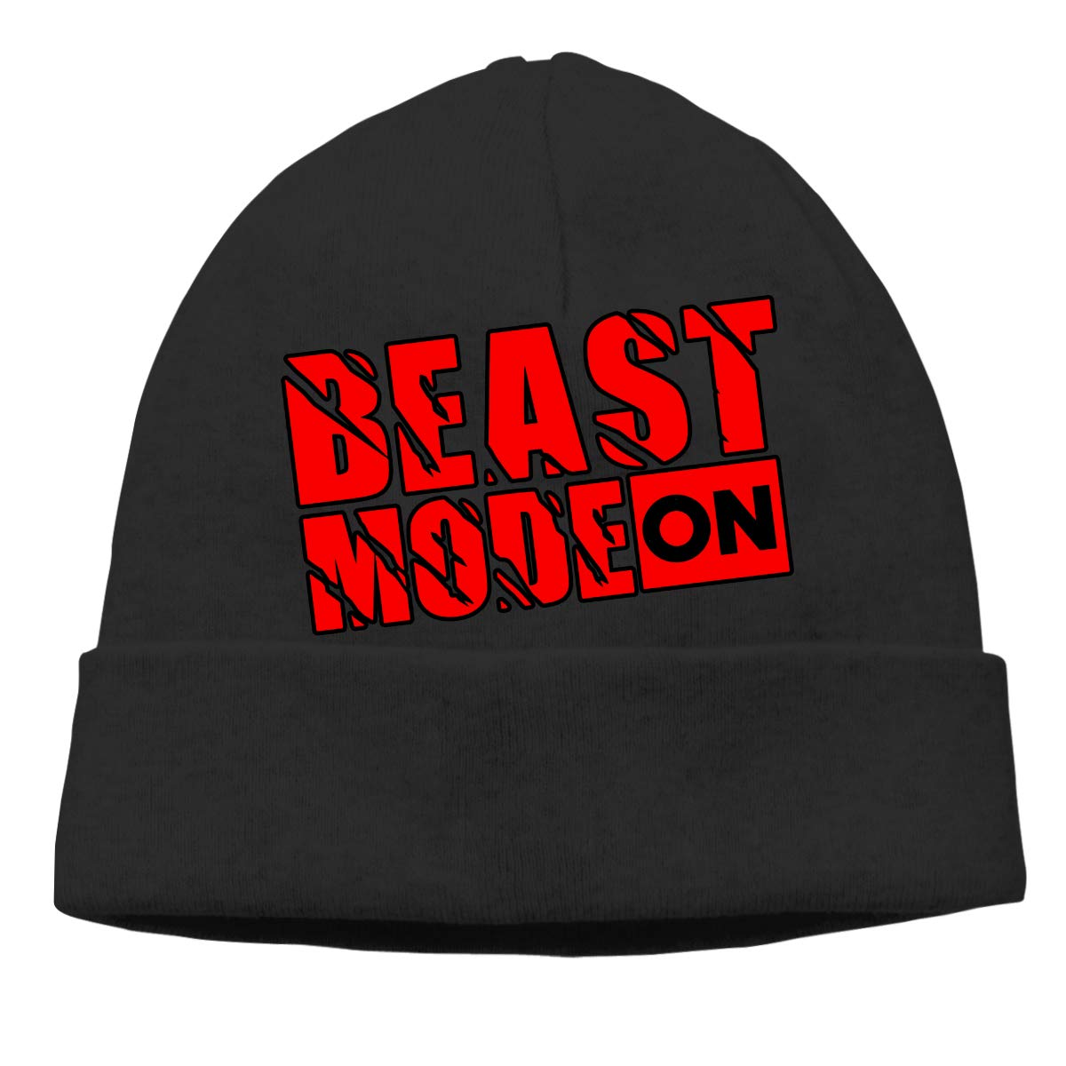 200147cc9d7 Beast Mode On Beanie Hat Classic Toboggan Hat Winter Hats Warm Hat Beanies  for Men and Women Black at Amazon Men s Clothing store