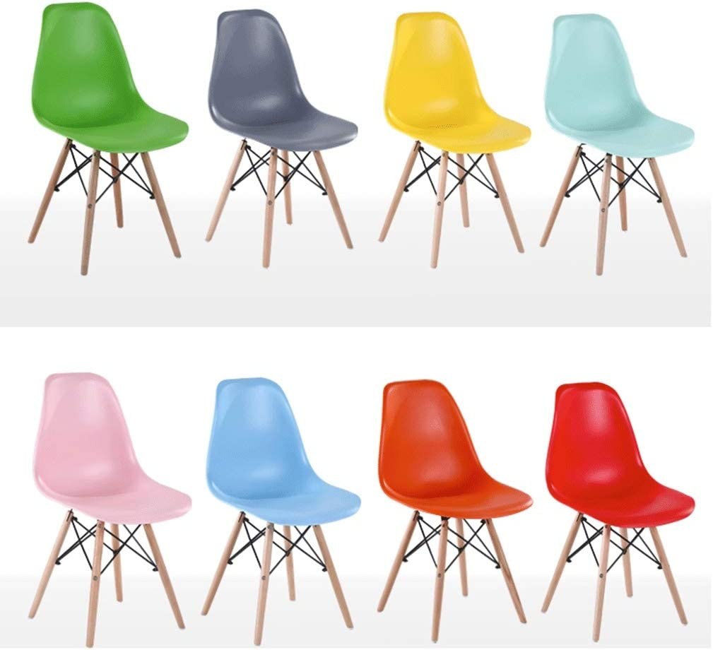 HEJINXL Chaise Cuisine Paille Bois Plastique Leg Modern Meubles Pour Salon Terrasse Cuisine Bureau Prélasser Deux Pièces (taille 82x40cm) (Color : F) A