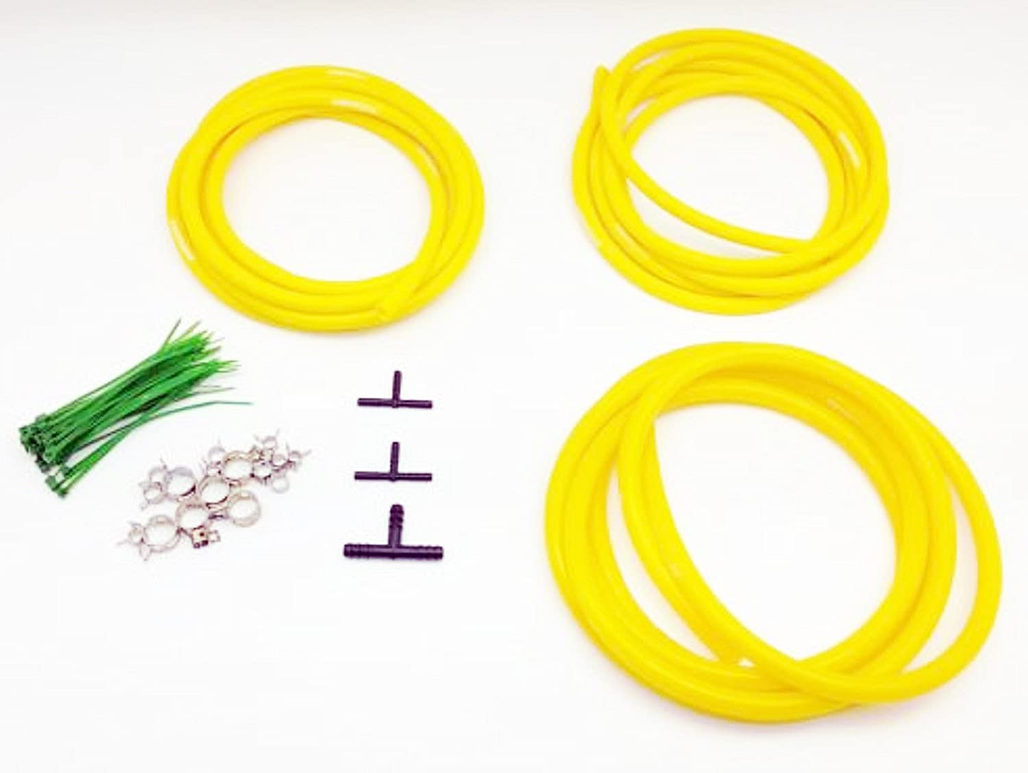 Autobahn88 Silicone Vacuum Hose Dress Up DIY Kit, Universal Fit All Nissan,Subaru,MMC, Toyota,Honda,Mazda, Mustang,Chevrolet,Ford, Suzuki,Citroen,Audi,BMW, Benz,Mini,Volkswagen,Fiat, etc (Yellow)