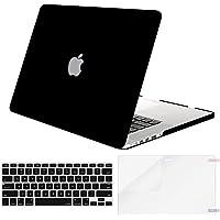 Mosiso Funda Dura Compatible MacBook Pro Retina 13 A1502 / A1425 (Non USB-C Versión 2015/2014/2013/fin 2012), Ultra Delgado Carcasa Rígida Protector de Plástico Cubierta, Negro