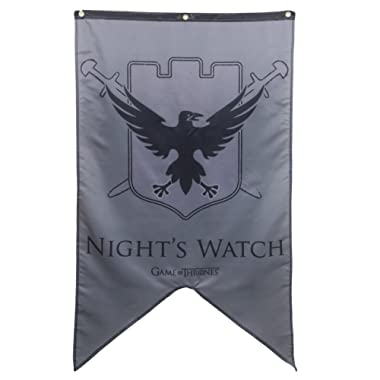 Calhoun Game of Thrones House Sigil Wall Banner (30  by 50 ) (Night's Watch)