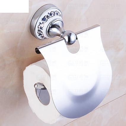 LISABOBO Porcelana azul y blanco baño baño baño toallas higiénicas bandeja/caja de pañuelos de