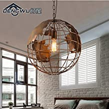 RLYYBE Pendant Lamp Vintage and Modern Rustic Led Hanging Pendant Ceiling Light Shade Sepia Industrial Artistic for Dining Room Living Room Bedroom Coffee House Bar Kids Room Studying Room Kitchen Hallway Entry Chandelier Lighting Fixtures