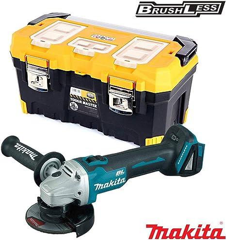 Makita DGA456Z Amoladora angular sin escobillas de 18 V con caja de almacenamiento de herramientas de 56 cm: Amazon.es: Bricolaje y herramientas