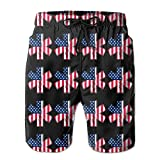 EMT and Paramedic Star Of Life American Flag Mens Basic Watershorts L With Pocket