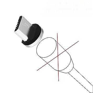 Amazon.com: Cable cargador magnético micro USB tipo C cable ...