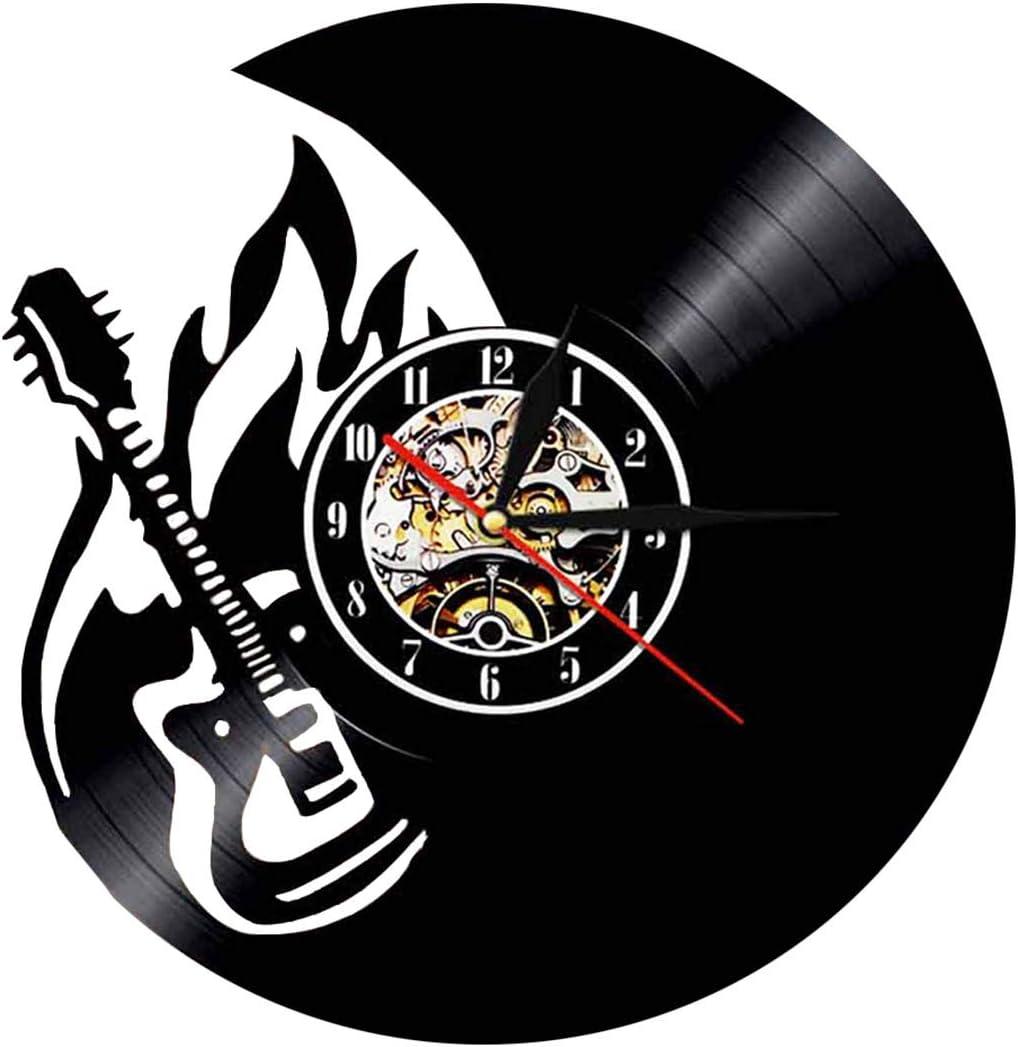 Guitares /électriques Horloge pendule instruments de musique /électroniques style vintage diam/ètre 30 cm