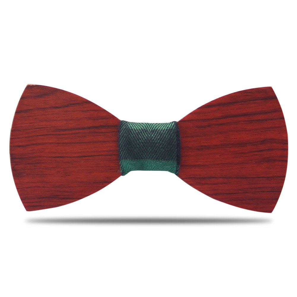 YFWOOD Men Wooden Bow Ties Vintage Pre Tied Bow Ties Cool Handcrafted Wood Neckties Wedding Bowties