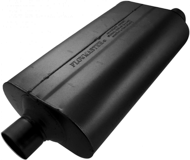 "Flowmaster 942550 50 Series Delta Flow Muffler 2.5/"" Center Inlet//Center Outlet"
