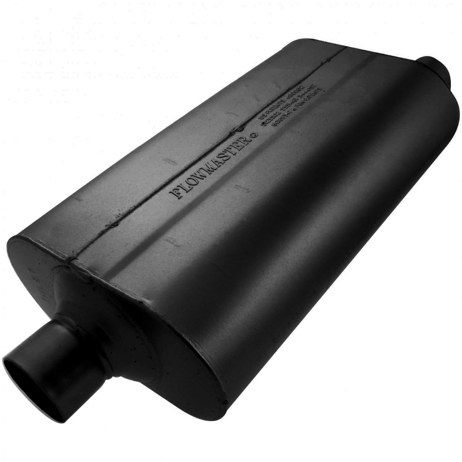 Flowmaster 52557 Super 50 Muffler - 2.50 Center IN / 2.50 Offset OUT - Moderate Sound by Flowmaster (Image #1)