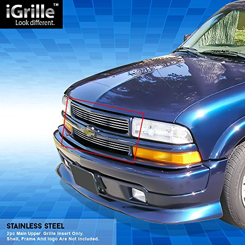 Off Roader Stainless Steel eGrille Billet Grille Grill for 98-04 Chevy S-10/98-05 Blazer Insert