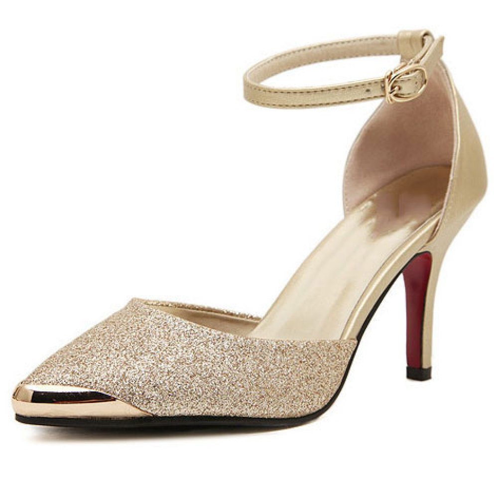 Damen High Heels Knöchelriemen Sexy Stiletto Heel Sandalen Slip-On Pumps Damen Spitz Klassische Abend Prom Schuhe