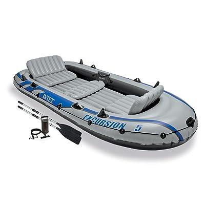 Intex Excursion 5, ensemble de bateau gonflable pour 5 personnes