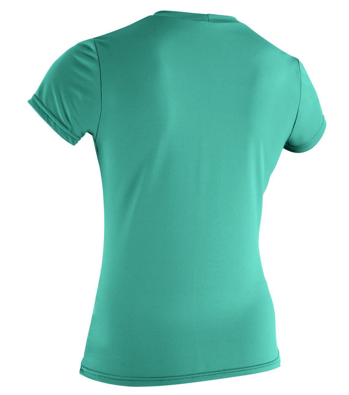 O'Neill  Women's Basic Skins Upf 50+ Short Sleeve Sun Shirt, Seaglass, X-Large by O'Neill Wetsuits
