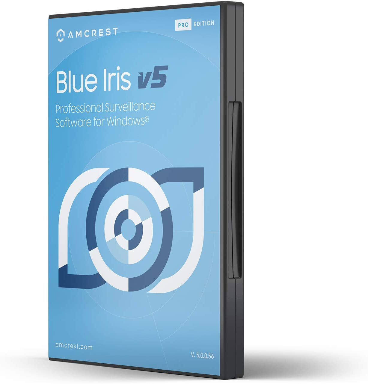 Amcrest Blue Iris Professional Version 5 - Supports Many IP Camera Brands Including Amcrest, Zone Motion Detection, H.265 Compression Recording, E-Mail and SMS Text Messaging Alerts!(BLUEIRISCD-V5)