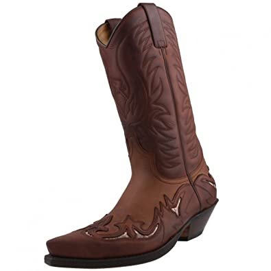 b36f49883ff Sendra 3242 Cowboy Boots Brown Leather Real Python Details Western ...