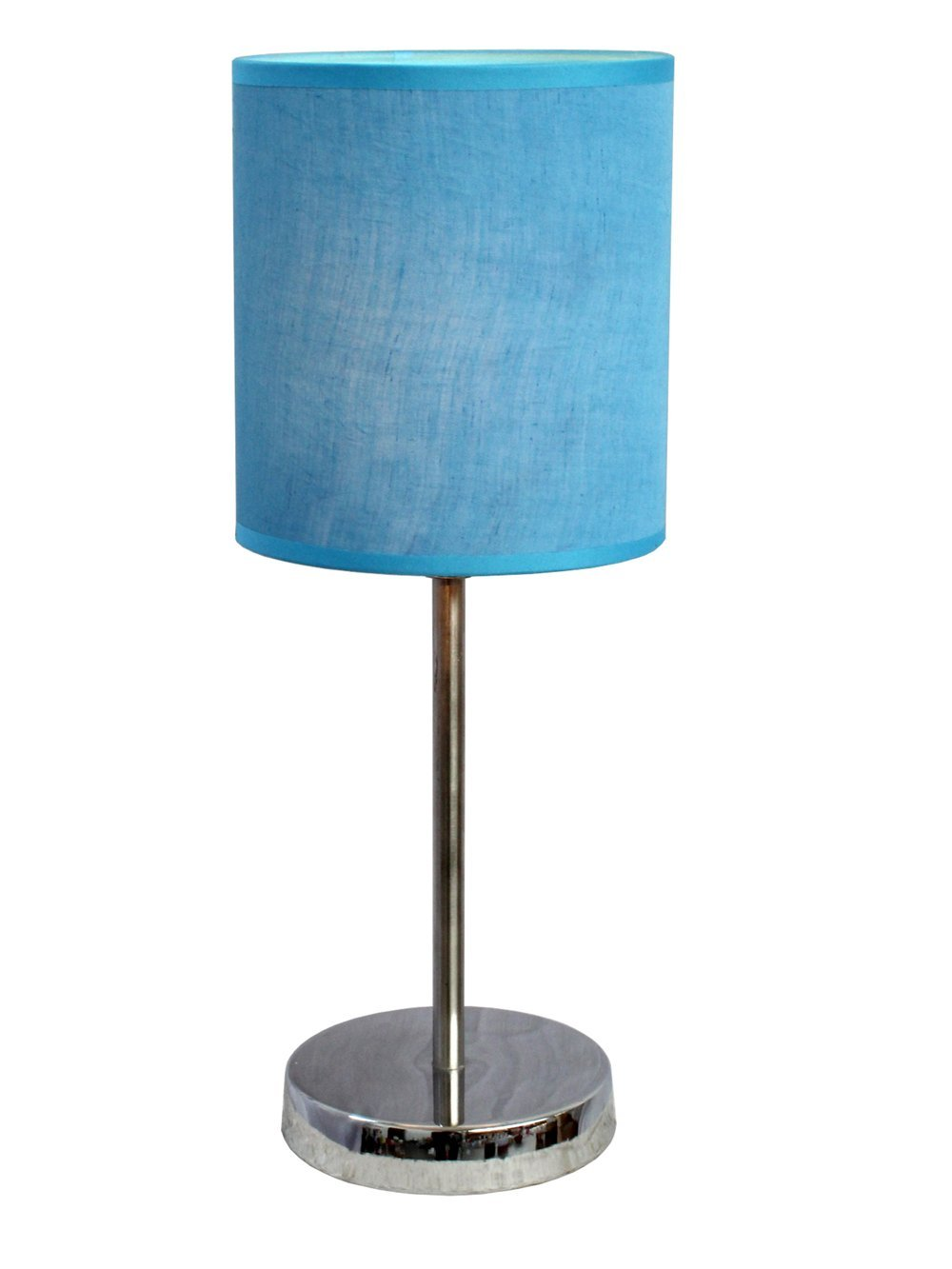 Simple designs lt2007 blu chrome mini basic table lamp with fabric simple designs lt2007 blu chrome mini basic table lamp with fabric shade blue blue houseware amazon geotapseo Images