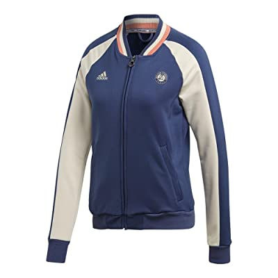 adidas Women`s Roland Garros Tennis Jacket Noble Indigo and Ecru Tint-(CE0385-U1