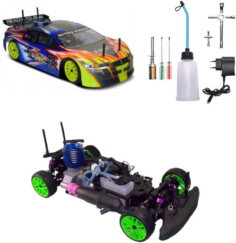Amazon Com Ydyl Li 4wd Nitro Rc Car 1 10 Th Scale Oil Driven Methanol Remote Control Buggy With 75cc Fuel Tank And 2 4g Remote Control Cross Country Simulation Car Model For Adult Home Kitchen
