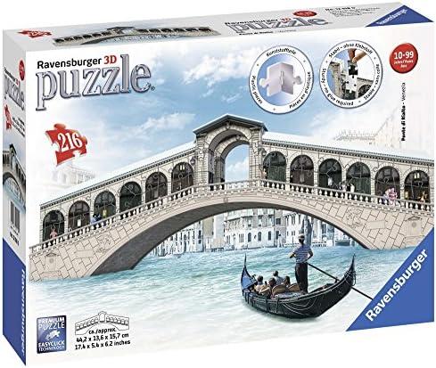 Ravensburger- Ponte di Bridge Puzzle 3D, Edición Puente Rialto (12518): Amazon.es: Juguetes y juegos