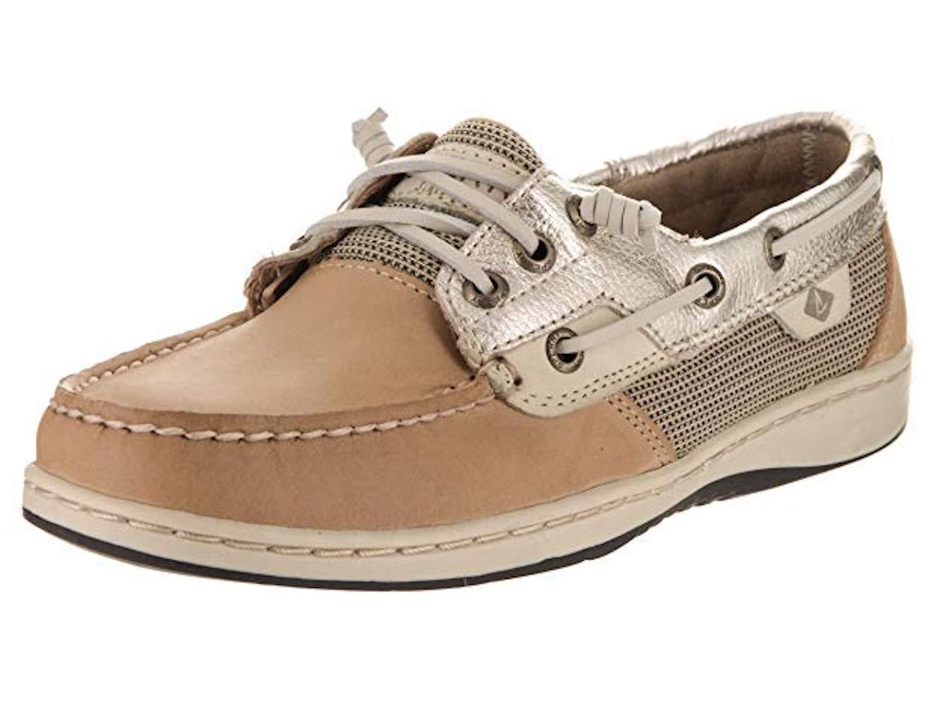 Sperry Top-Sider Women's Rosefish Linen/Platinum Boat Shoe 5M