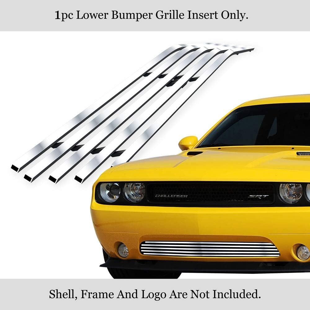 APS Compatible with 2011-2014 Dodge Challenger Black Lower Lower Bumper Billet Grille D66918H