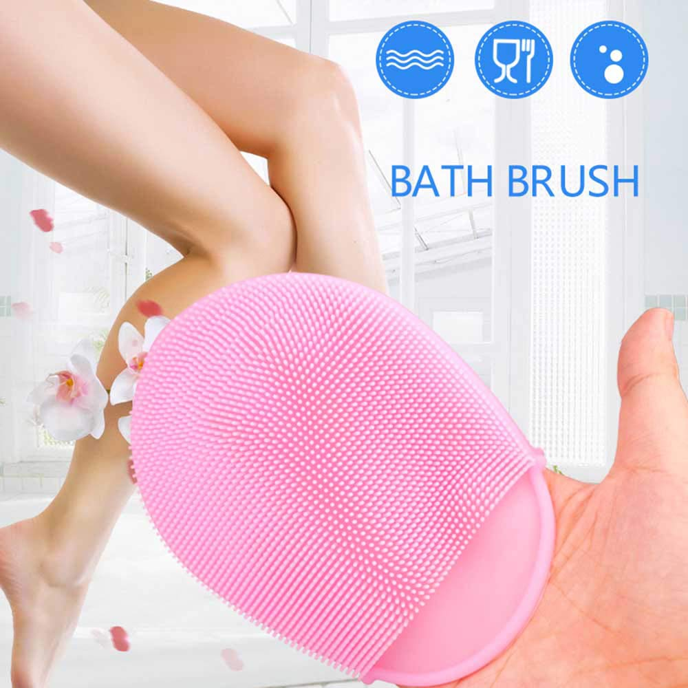 Silicone Cleaning Brush with Circular Chuck 8 pcs,Easy Cleaning Kitchenware,Dish Vegetable,Fruit,Skin,Toiletry,Glassware Ceramics /… red purple