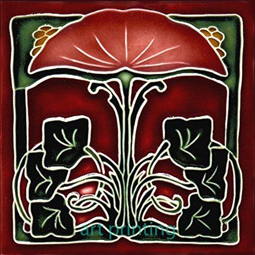 - Art Nouveau Ceramic Tile 6 Inches Reproducction #0016