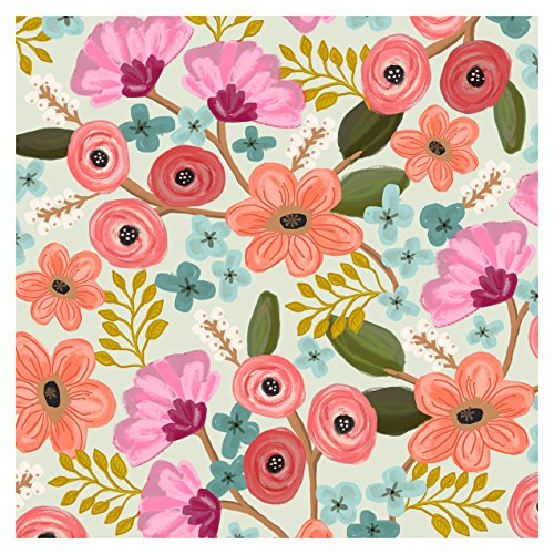 Floral Decoupage - Jillson Roberts 24 Sheet-Count Premium Printed Tissue Paper Available in 8 Different Floral Designs, Gypsy Floral