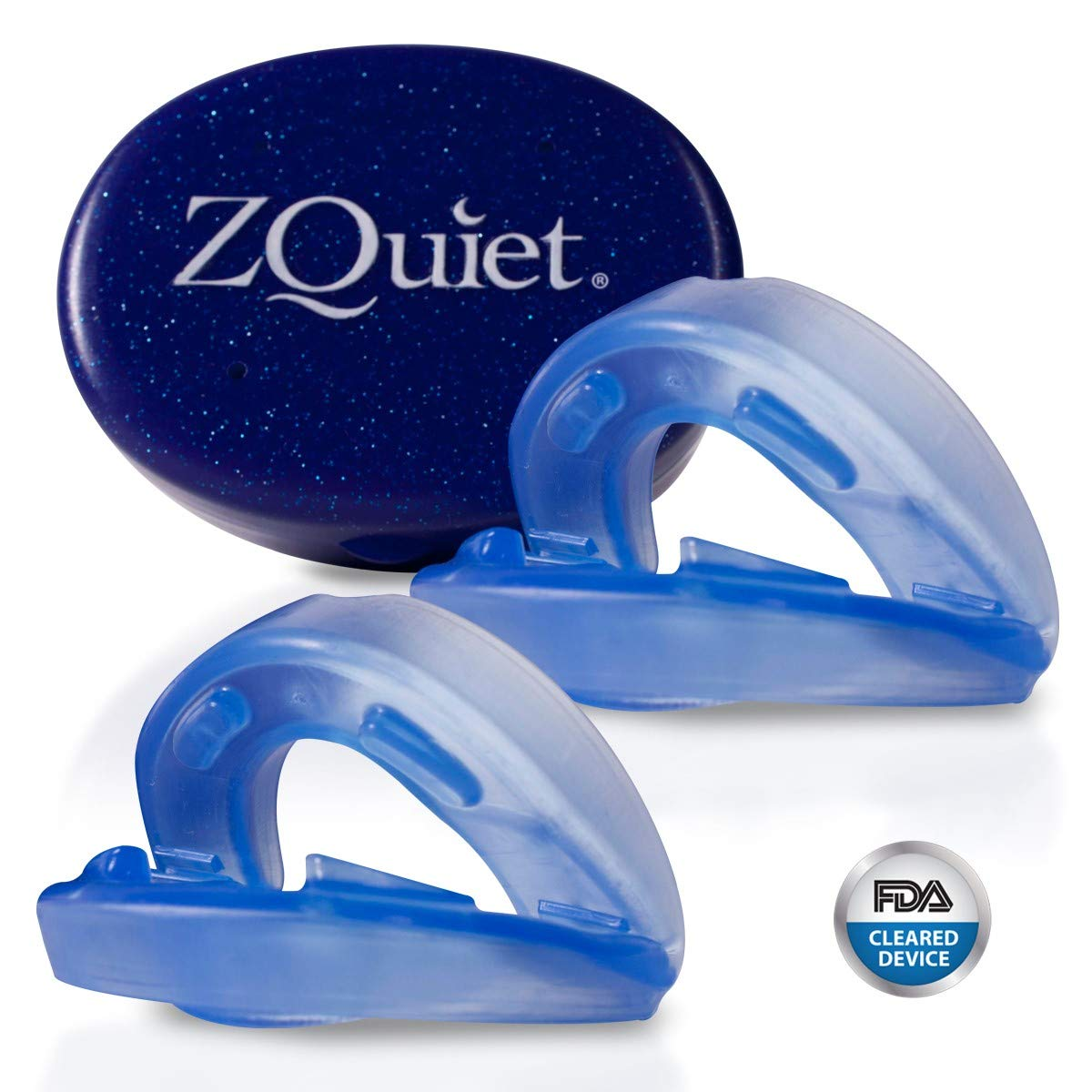ZQuiet Anti-Snoring Treatment, 2-Size Comfort System Starter Kit, Set of 2 Sleep Aid Mouthpieces Plus Travel Case