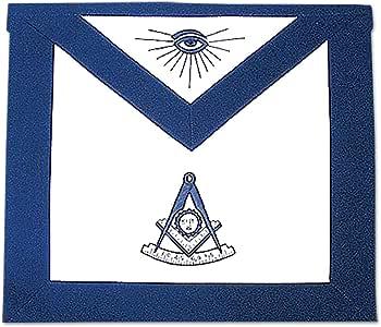 Past Master Masonic Apron - [Blue & White]