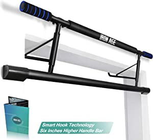 Iron Age Pull Up Bar with Smart Hook Technology