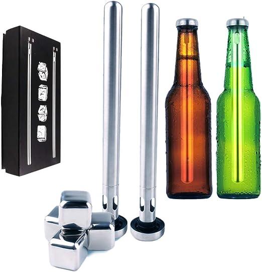 E2F - Juego de 2 palos de cerveza con cubitos de hielo cuadrados ...