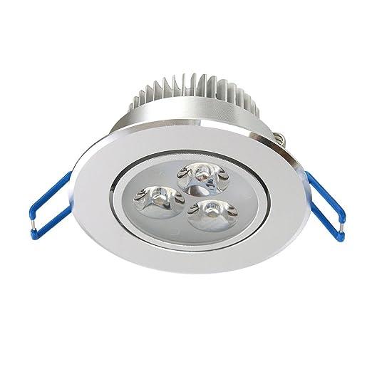 LemonBest - Lámparas LED empotrables para techo (3 W, 220 V, luz blanca