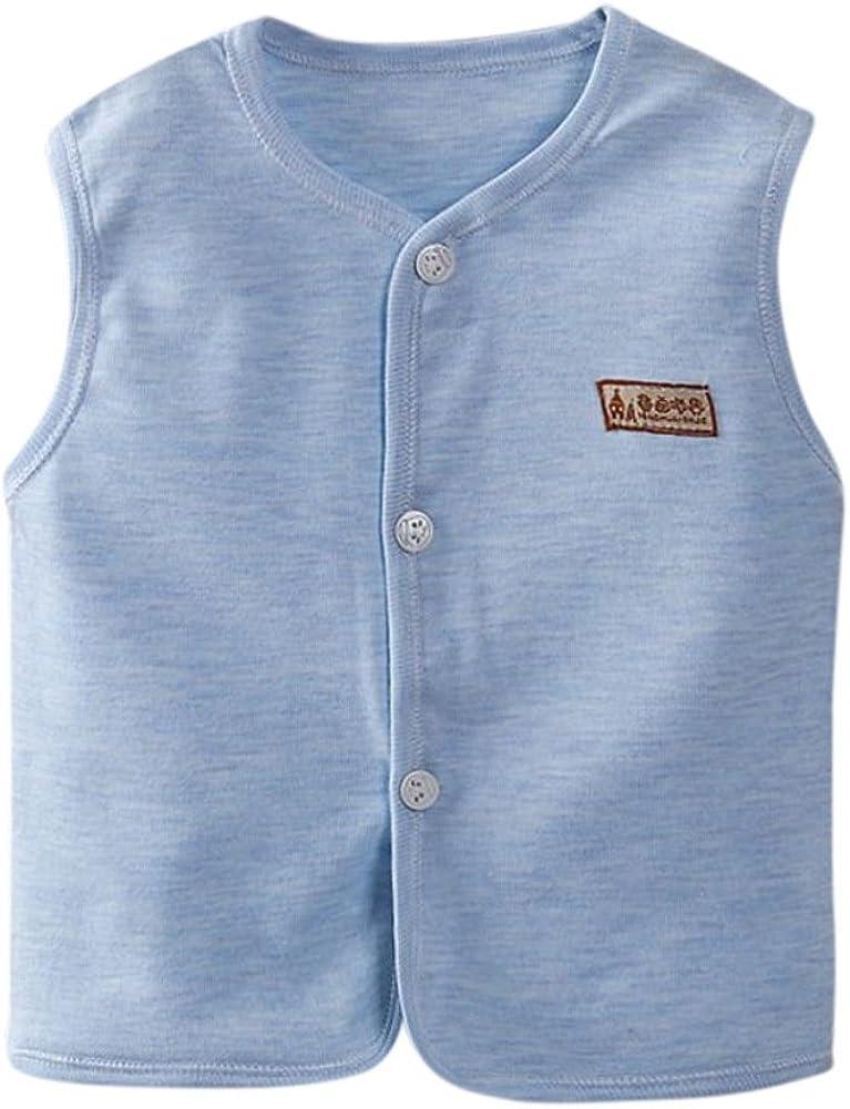 Kinder Weste /Ärmelloses Kleid Kinder Top Soft Atmungsaktive Jacke f/ür Jungen M/ädchen Baby von Bornbayb