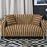 Knitted sofa slipcovers surefit stretch,Couch cover throw,Striped anti-Slip stain resistant 1-Piece furniture protector-I sofa