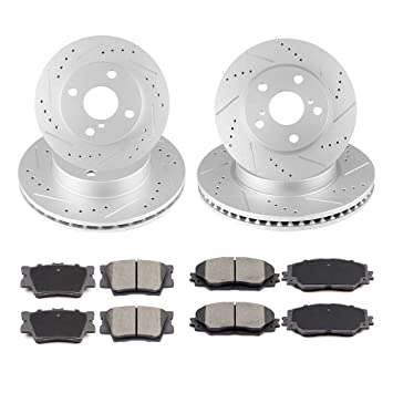 Front and Rear Brake Rotors For HS250H 2010-2011 RAV4 2006-2012