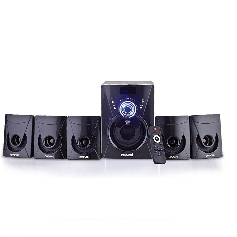 Envent Deejay 705 BT 5.1 Home Audio Multimedia Channel Speaker (Black)