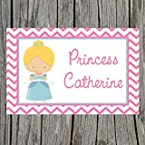 Chevron Glass Slipper Princess Personalized Placemat for Kids