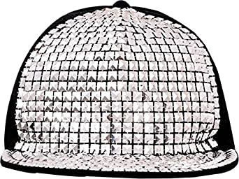 20119def0d8 SAIFPRO Self Design Acrylic Silver Snapback Hiphop Cap  Amazon.in  Clothing    Accessories