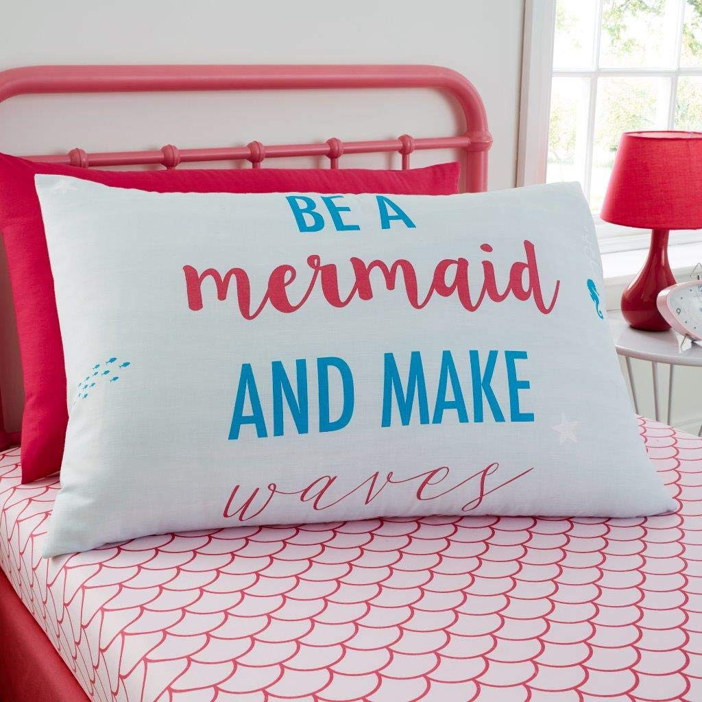2 Piece Printed Easy Care Bedlinen Oh Deer-Multi-SS 1 Fitted Bedsheet and 1 Matching Pillow Case Children Character Bedding Gaveno Cavailia Kids Rotary Sheet Set Mermaid Single